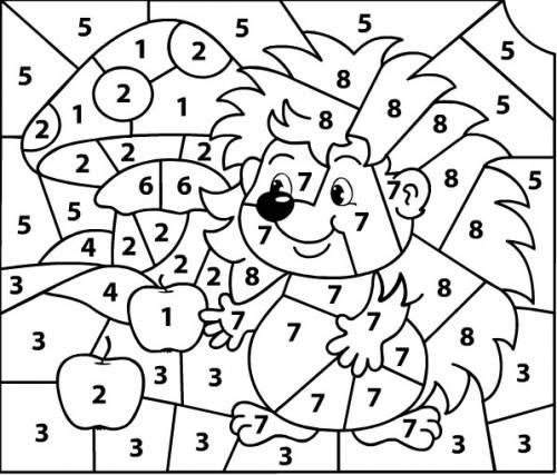 Раскраска по номерам для малышей - 6