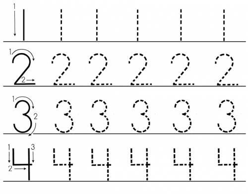 Раскраска цифры от 1 до 10 - 2